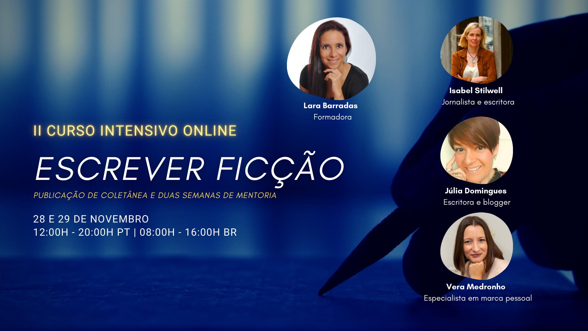 ESCREVER FICÇÃO - CURSOS INTENSIVO