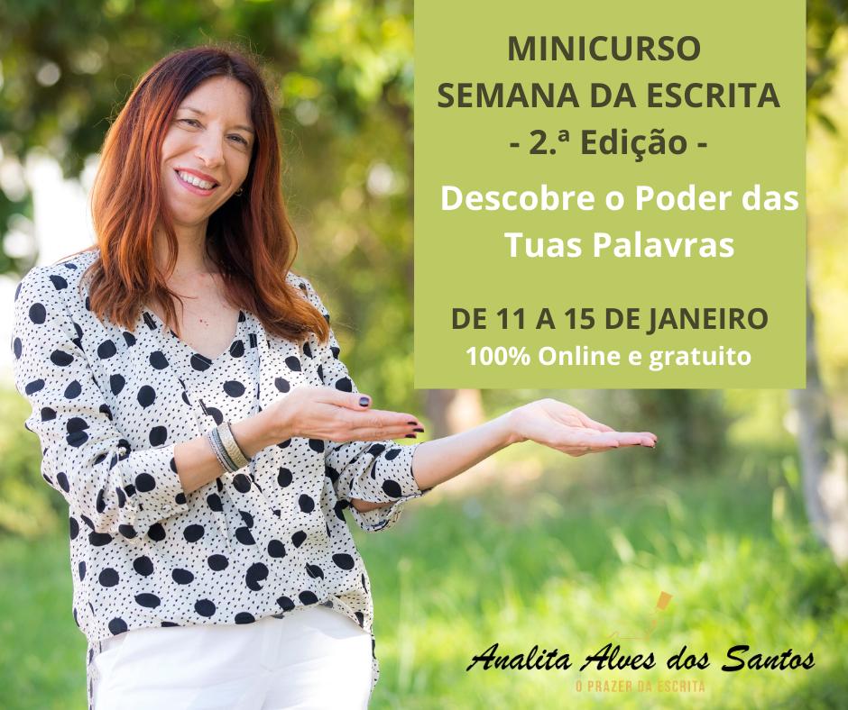 Minicurso Semana da Escrita com Analita Alves dos Santos
